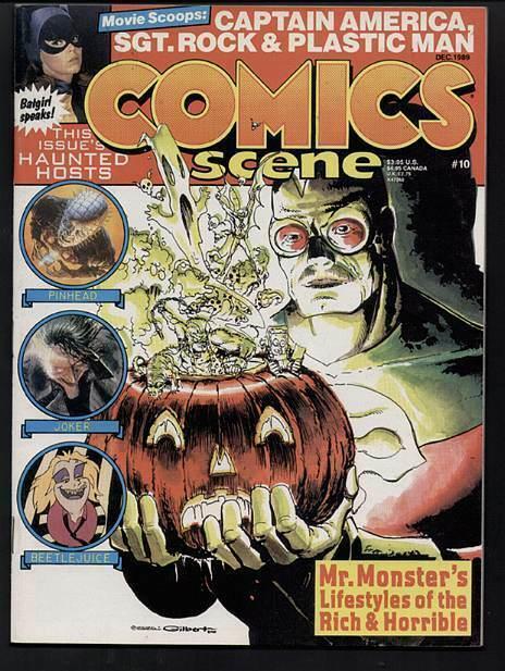 COMICS SCENE  21(V 4#10) PINHEAD,BEETLEJUICE