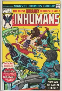 Inhumans, The #1 (Oct-75) NM- High-Grade Black Bolt, Gorgon, Triton, Karnak, ...