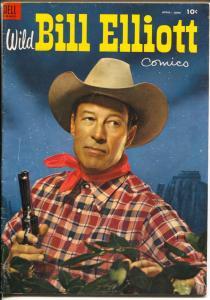 Wild Bill Elliott #13 1954-Dell-B-Western film star-western art-VG