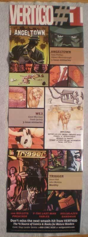 VERTIGO #1 Promo Poster, 11x34, 2004, Unused, more in our store