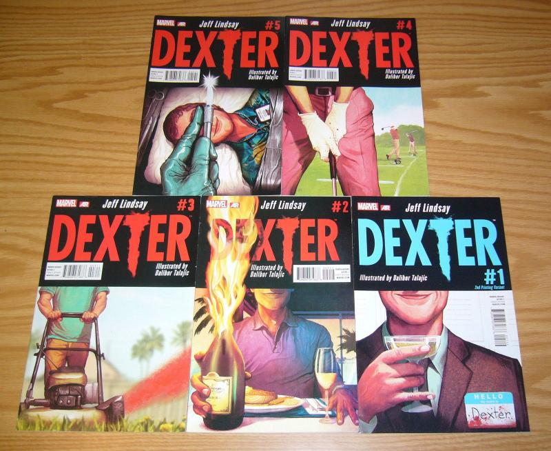 Dexter #1-5 VF/NM complete series based on showtime show - jeff lindsay set 2nd