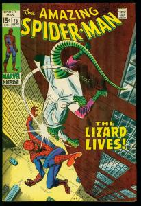 AMAZING SPIDER-MAN #76 1969- LIZARD - JOHN BUSCEMA- MARVEL COMICS- VF