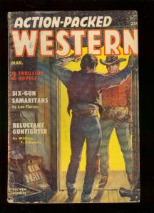 ACTION-PACKED WESTERN PULP-MAR 1955-BUCK McKEE & TORTIL G/VG