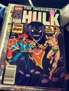 Incredible Hulk  # 371 nov 1987 MARVEL  dark HULK dr strange namor defenders