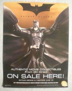 BATMAN BEGINS Promo Poster, 10x13, 2005,  Unused, more Promos in store