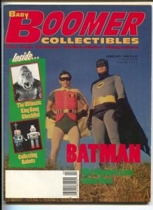 Baby Boomer Collectibles 2/1996-Batman-Adam West-King Kong-robots-VF