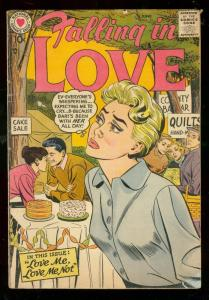 FALLING IN LOVE #11 1957-DC ROMANCE COMICS-CAKE SALE VG-