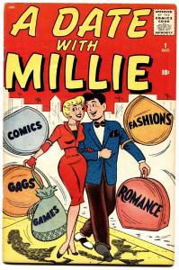 A Date With Millie #1 1959-Atlas-Dan DeCarlo-Chili-paper dolls-fashion