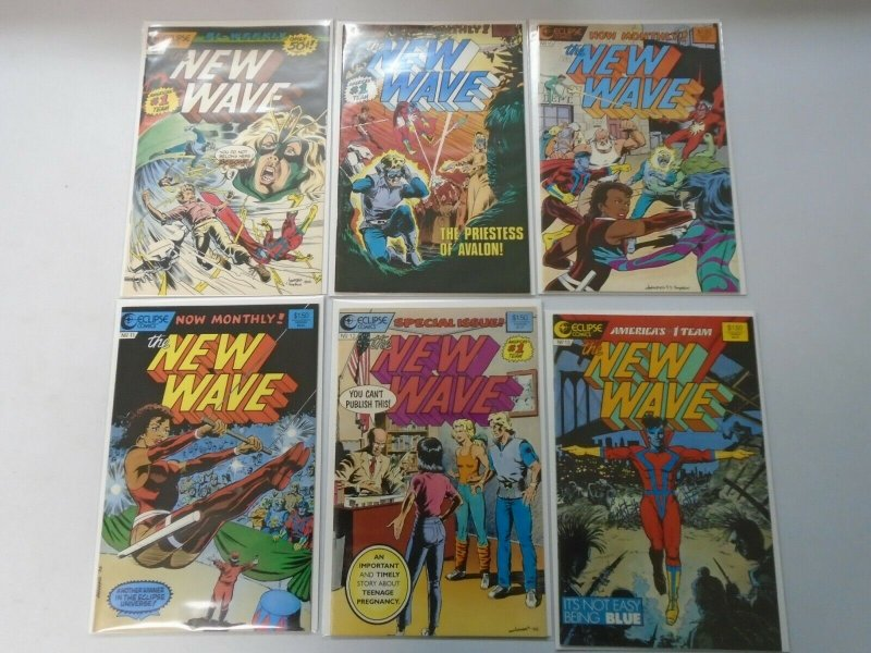 New Wave near set 12 different #1-13 missing #8 8.0 VF (1986 Eclipse)