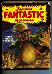 Famous Fantastic Mysteries-Pulp-10/1946-H. G. Wells-Bram Stoker