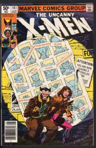 X-MEN #141-HIGH GRADE-DAYS OF FUTURES PAST-1981-MARVEL-WOLVERINE-NM