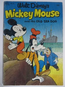 MICKEY MOUSE F.C. 411  G  (7/1952) The Old Sea Dog COMICS BOOK
