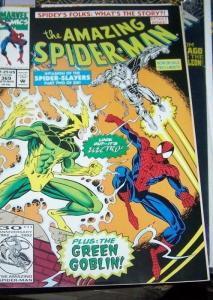 Amazing Spider-Man # 369 (Nov 1992, Marvel) green goblin electro black cat