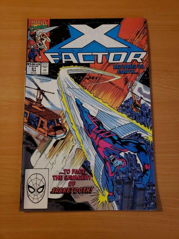 X-Factor #51 Direct Market Edition ~ NEAR MINT NM ~ (1990, Marvel Comics)