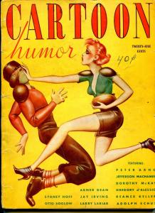 Cartoon Humor #1 1/1939-1st issue-full page cartoons-pin-up girl football cover-