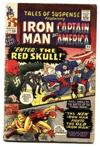 TALES OF SUSPENSE #66 Double cover! First Silver-Age RED SKULL 1965 VG+