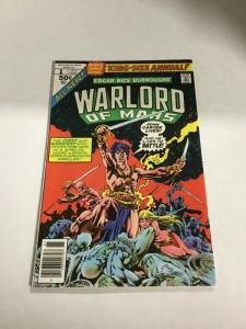 Warlord Of Mars Annual 1 Nm- Near Mint- Marvel
