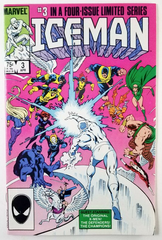 ? Iceman Limited Mini-series 1984 Compete Run 1,2,3,4 - High Grade Marvel Comic