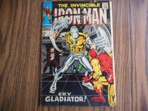 IRON-MAN # 7 CLASSIC TUSKA FIGHT COVER!!! MID-GRADE GEM!! WOW