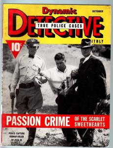 DYNAMIC DETECTIVE-1940 OCT-PULP TRUE CRIME-BLOODY COVER-MURDER FN