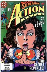 ACTION COMICS #662, VF/NM, Lois Lane knows Superman's ID, more in store
