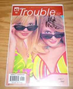 Trouble #1 VF/NM signed by mark millar w/COA (#439 of 999) numbered epic 2003