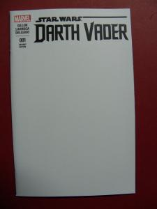 DARTH VADER #001 BLANK VARIANT  COVER NEAR MINT 9.4 MARVEL COMICS 2015 SERIES