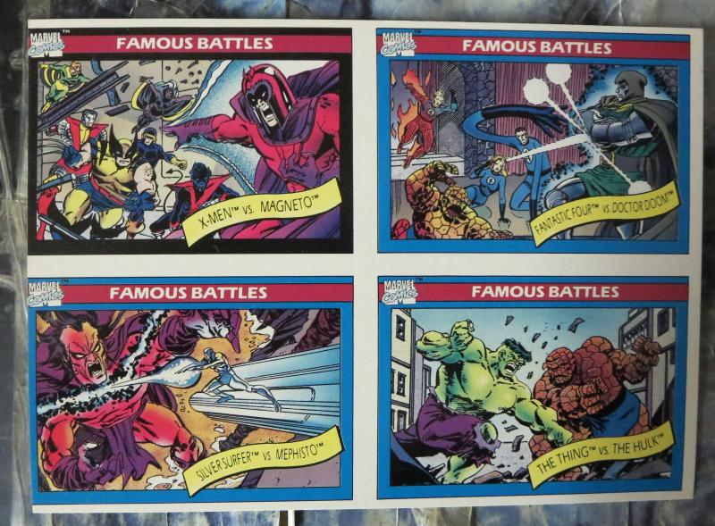 Marvel Universe Uncut Card Sheet #3- Diamond Previews Exclusive1990 Battles!