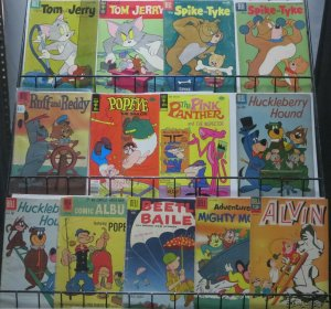 CARTOON CLASSIC COMIC COLLECTION! 13 COMICS!Tom & Jerry, Huckleberry Hound(G)