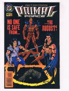 Primal Force #10 VG/FN DC Comics Comic Book Seagle Aug 1995 DE38 AD11