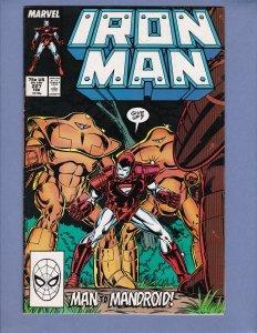 Iron Man #227 VF Beetle Marvel 1988