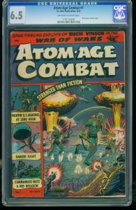 Atom-Age Combat #1-CGC 6.5-Buck Vinson- St John-SOUTHERN STATES 1197124005