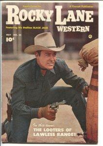 Rocky Lane Western #25 1951-Fawcett- B-Western movie star photo cover-FN