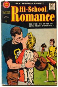 Hi-School Romance #70 1957- Harvey Silver Age football cover VG+