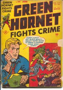 Green Hornet #34 1947-Harvey-Bob Powell art-Blonde Bomber-Kato-G