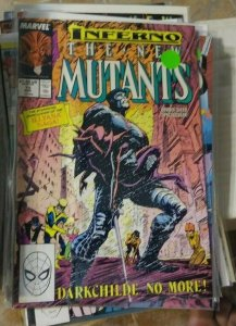 NEW MUTANTS  # 73 1988 marvel  inferno+ limbo magik  illyana darkchild no more