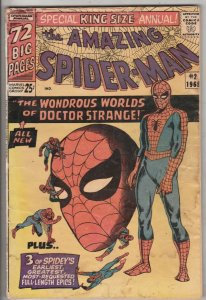 Amazing Spider-Man King-Size Annual #2 (Jan-65) GD+ Affordable-Grade Spider-Man