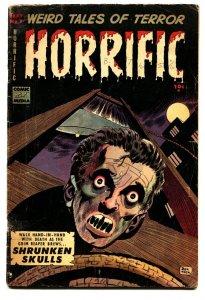 HORRIFIC #7 1953-COMIC MEDIA-DECAPITATION-DON HECK-PRE-CODE HORROR