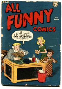 ALL FUNNY COMICS #14 1946-comic book GENIUS JONES Golden-Age DC