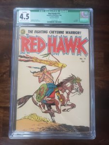 Red Hawk 11 CGC 4.5 (Only Issue) Qualified Green Label. Centerfold Married