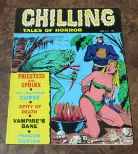 Chilling Tales of Horror #4 VG+ 1971 Horror Magazine Creekmore Curse Bondage
