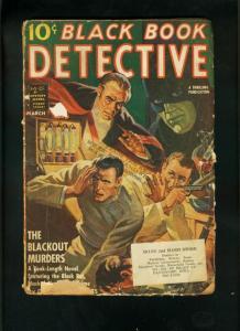 BLACK BOOK DETECTIVE MARCH 1942-BLACK BAT STORY-BLACKOUT MURDERS-FAIR