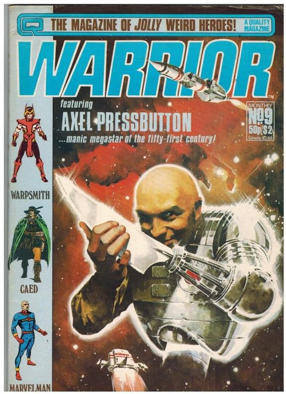 WARRIOR (1982 QUALITY) 9 VG- Jan. 1983 ALAN MOORE+++++