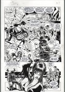 TOD SMITH-ELVIRA #125-THE HAUNTING-PART II -ORIGINAL ART PAGE 24-QUEEN 'B FN