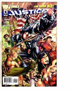 Lot Of 5 Justice League DC Comic Books # 5 6 7 8 9 1st Prints Batman Flash TW61