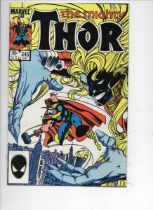 THOR #345 NM- God of Thunder Simonson 1966 1984, more Thor in store, Marvel