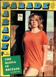 Parade 4/15/1969-British exploitation mag-cheesecake-Molly Peters-FR