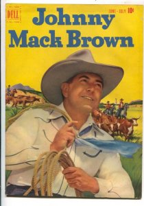 Johnny Mack Brown #5 1951- Dell-B-western  film star photo covers-Jesse Marsh...