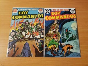 Boy Commandos 1-2 Complete Set Run! ~ VERY FINE VF ~ 1973 DC Comics