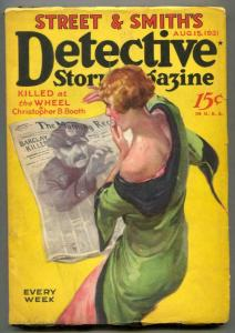 Detective Story Pulp August 15 1931- Killed at the Wheel